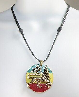 African Lion / Lion King  / Rastafari  Pendant on a Necklace / Choker Adjustable