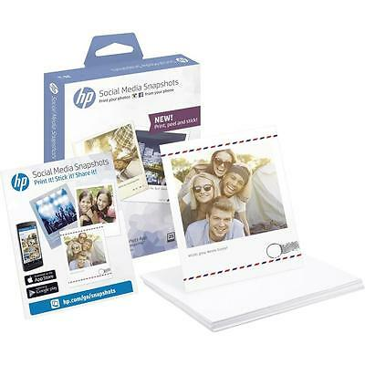 HP Social Media Snapshots 25 sheets 10x13cm Stick Photo Sheets,