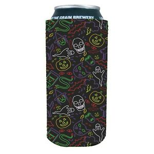 Skull and Bones Coolie Junction Pirate Pattern Neoprene Collapsible Can Coolie
