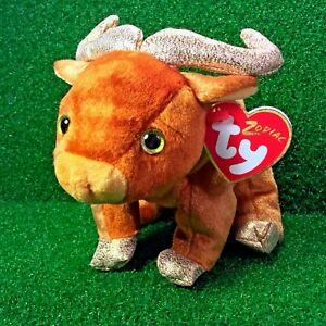 MWMT Rare Ty Beanie Baby 2000 Zodiac Ox New Retired Plush Toy - FREE ... d05dc1ec98a1