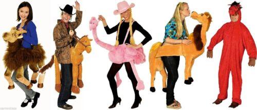 Tier Kostüm Rotes Rot Pferd Overall Strauss Flamingo Reittier Vogel Kamel Ziege