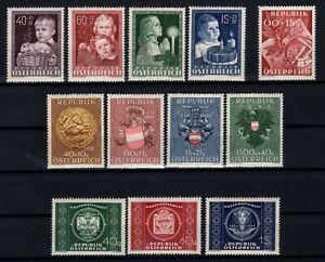 P126414-AUSTRIA-1949-MINT-MNH-SEMI-MODERN-LOT-CV-165