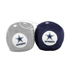 New-NFL-Dallas-Cowboys-Rear-View-Mirror-Soft-Plush-Fuzzy-Hanging-Dice