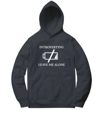 Introverting Leave Me Alone Men Women Unisex Sweater Jacket Pullover Hoodie