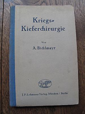 Buch Sanitäter Zahnarzt Kriegs-Kieferchirurgie 1943