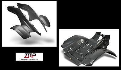 NEW HONDA TRX 250R PLASTIC BLACK CARBON FIBER FRONT AND REAR FENDER SET