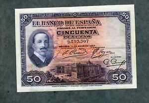 BILLETE-50-PESETAS-1927-SIN-SERIE-2757307-con-sello-II-REPUBLICA-MBC-EBC