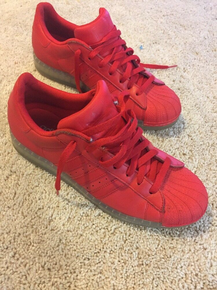 Red shell toe Adidas size 9.5 mens