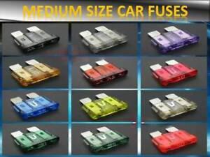 VAUXHALL AUTO CAR FUSES SET STANDARD BLADE 5 7.5 10 15 20 25 30AMP TOP QUALITY