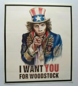 Fan-Aufkleber JIMMY Hendrix I Want You For Woodstock Järvi 1969 USA