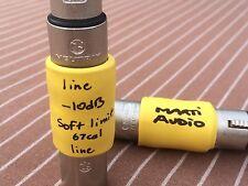 High Quality PRO Balanced line level ATTENUATOR -10dB XLR Barrel for Audio Int.