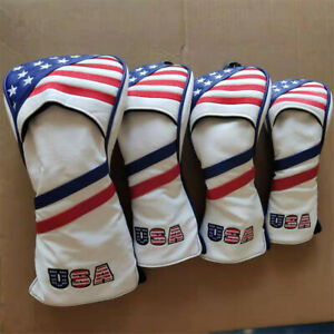 4pcs-USA-Golf-Wood-Club-Headcovers-Driver-Fairway-Wood-Hybrid-UT-For-Most-Brand