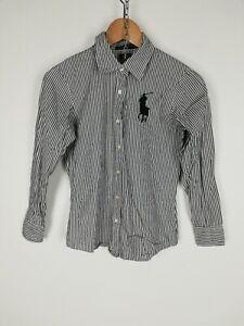 RALPH-LAUREN-CUSTOM-FIT-Camicia-Shirt-Maglia-Chemise-Hemd-Tg-S-Donna