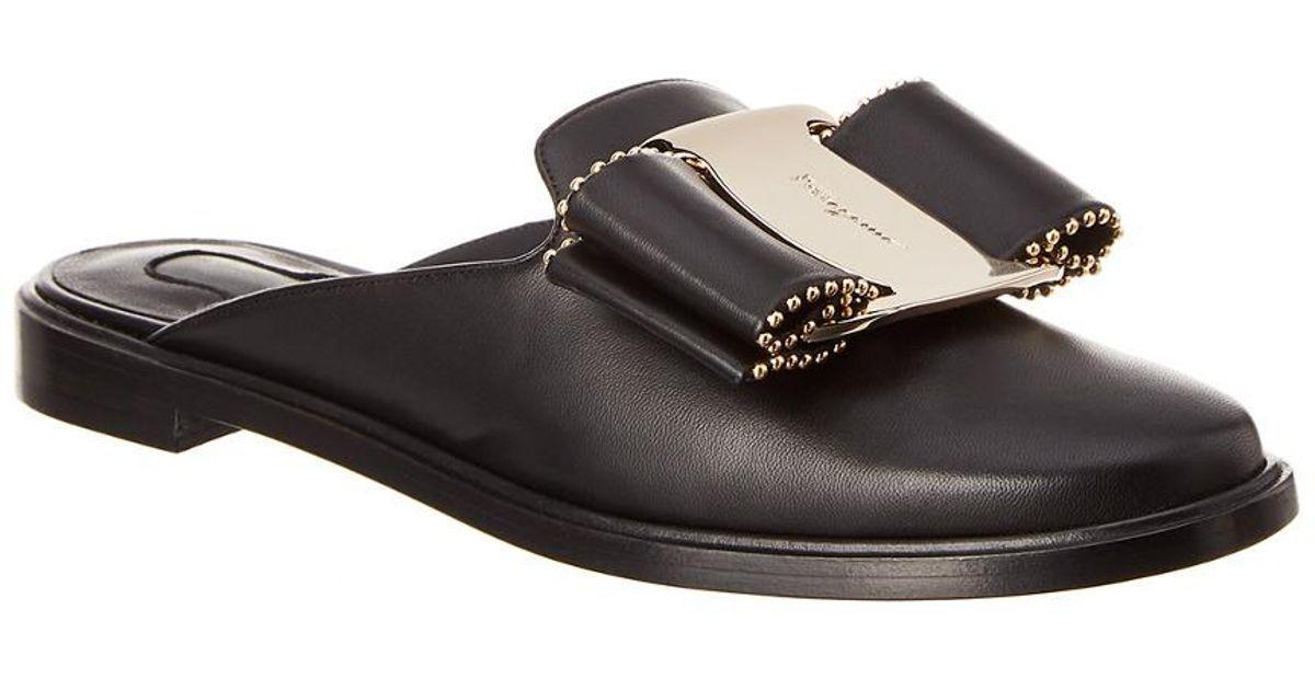 795 SALVATORE FERRAGAMO Ggold Ggold Ggold Mule shoes,8,ITALY,gold LOGO, Leather,Nappa,Calf,NIB 523b11