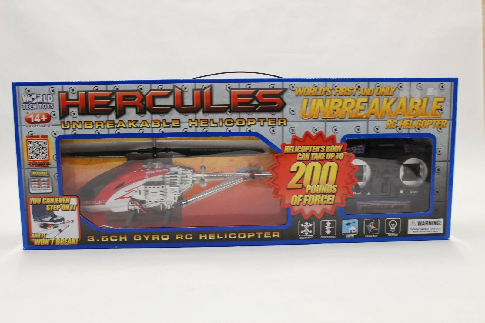 World Tech Toys 35850 Hercules Unbreakable Helicopter Red