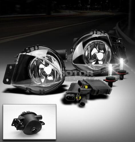 06 07 08 BMW E90 3 SERIES 323 328 330 335 BUMPER CHROME FOG LIGHT LAMP+6000K HID