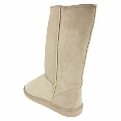 SALE Girls Spot On textile pull on long boot faux fur inner GGY 35