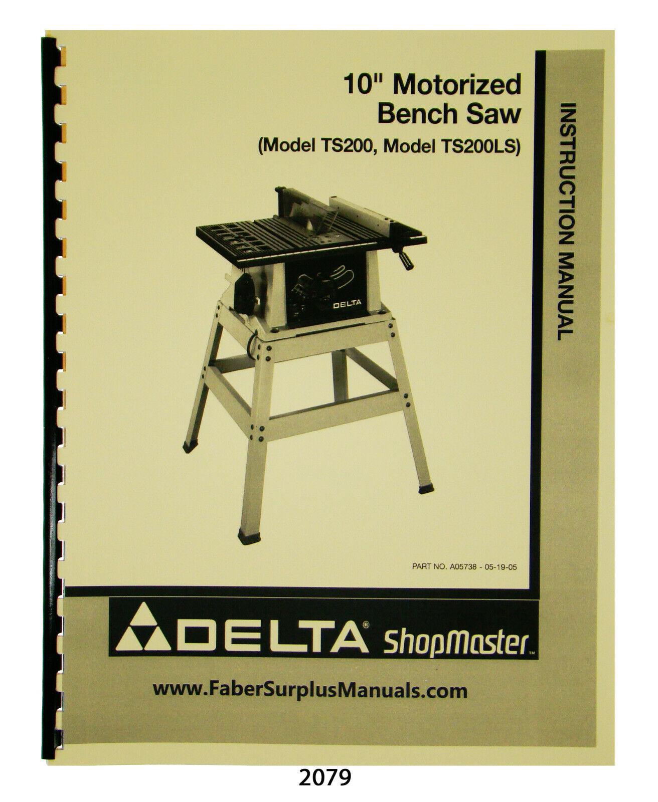 Delta 10 Motorized Bench Saw For Sale Online Ebay