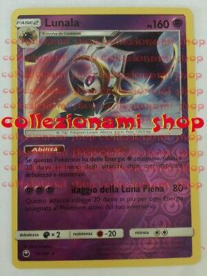 RARA HOLO TEMPESTA ASTRALE 70//168 POKEMON LUNALA in ITALIANO