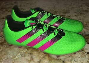 ADIDAS Ace 16.1 FG AG Lime Green Pink Black Soccer Cleats Boots Mens ... 91cd4debe42a9