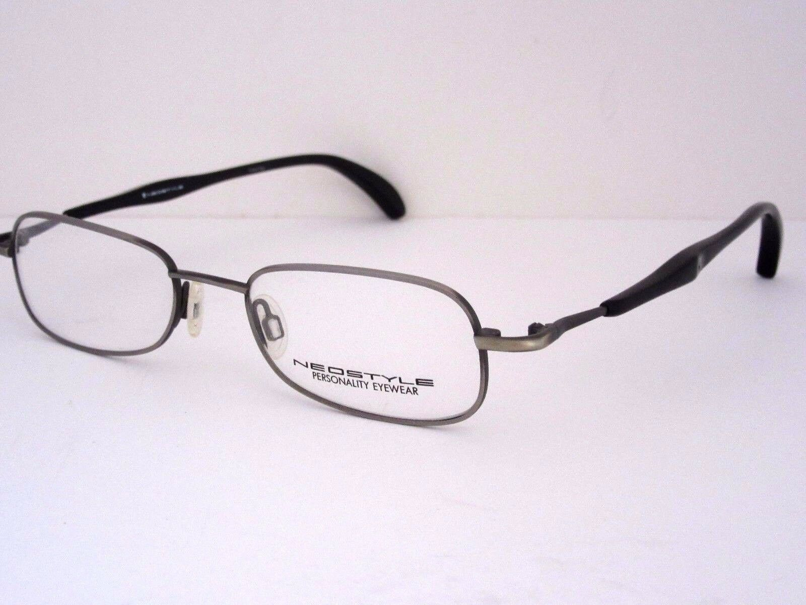 36a4df80689 NEOSTYLE College 288 854 Pewter   Black Eyeglasses Frame Italy NOS ...