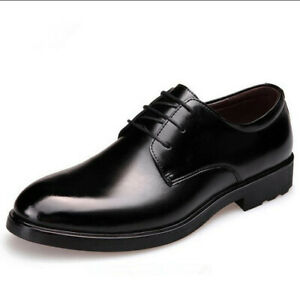 Men-039-s-Casual-Flats-Leather-Shoes-Lace-Up-Dress-Formal-Business-Oxford-Classic