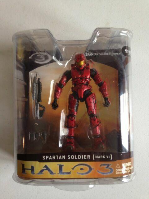 Spartan Soldier Mark VI Armor McFarlane Toys Halo 3 Series 1 18178 Red