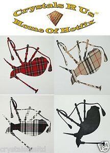 FABRIC-Scottish-tartan-bagpipe-iron-on-hotfix-tshirt-transfer-patch-applique