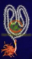 Fine Quality Energized Crystal (Sphatik) Mala 8-9 MM Crystal Rosary For Pooja
