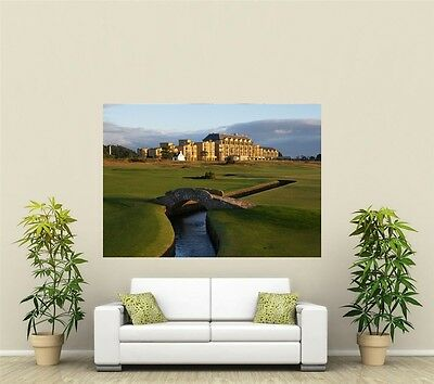 St Andrews Scotland Golf Course Giant 1 Piece  Wall Art Poster SP103
