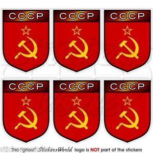 UNIONE SOVIETICA Russia CCCP, USSR Adesivi per Cellulare 40mm Mini Stickers x6