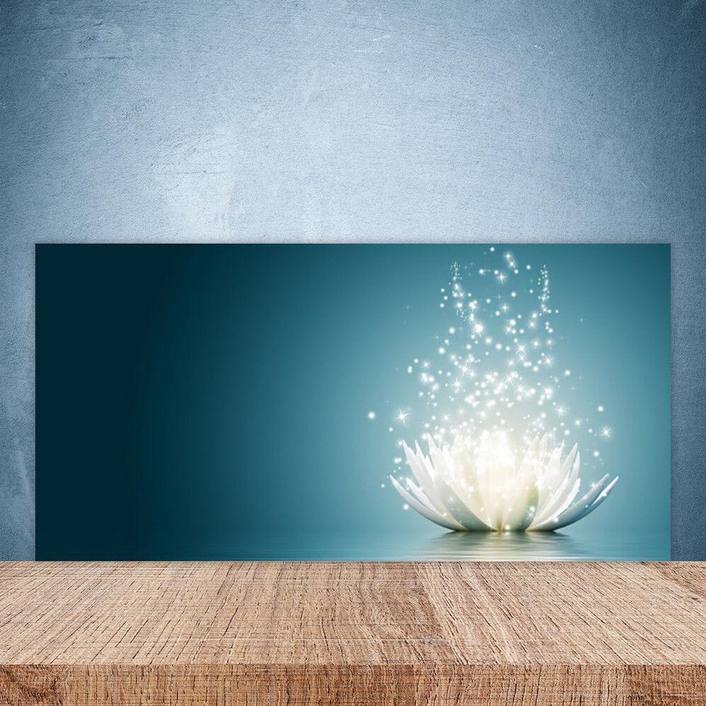 Crédence de cuisine en verre Panneau Paroi 100x50 Floral Fleur De Lotus