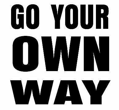 GO YOUR OWN WAY sticker decal RV Motorhome, 4X4, Boat , Caravan large