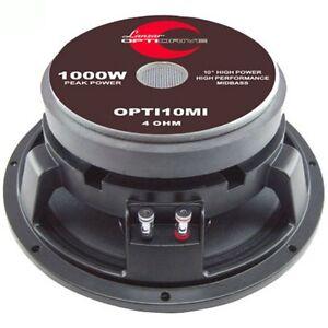 Woofer-25-00-cm-10-034-Lanzar-OPTI10MI-500-Watt-RMS-Spl-Portes-Gardien-Moyen-Bas