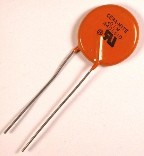 CAPACITOR CERAMIC 0.01 400VAC - CERA-MITE/VISHAY 440LS10 - *EMI* *UNUSED* Qty:25