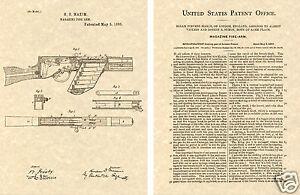 MAXIM-MACHINE-GUN-PATENT-Art-Print-READY-TO-FRAME-Hiram1885-Automatic-Auto