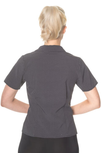 Bluse Vintage Days Up Rockabilly Punkte Polka Dancing Shirt Pin Loua Dots Retro FTUqfz