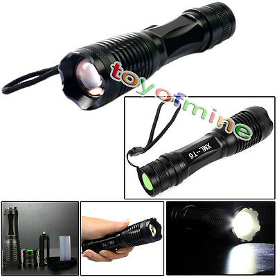 CREE XM-L T6 LED 18650/AAA Flashlight 2200LM Lamp Zoomable Torch Light