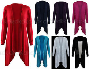 Women's Ladies Waterfall Cardigan Sizes S/M, M/L,L/XL,10,12,14,16 ...