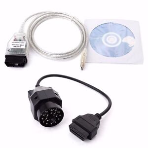 Details about BMW INPA K+DCAN USB Interface Cable Lead + VAG 20pin OBD1 to  16pin OBD2 Adapter