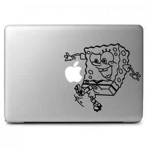Spongebob Play Soccer Vinyl Sticker Skin Decal For Macbook Air - Spongebob macbook decal