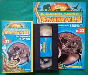 VHS FILM Ita Disney Magico Mondo Degli Animali N.23 SERPENTI+Fascicolo(VH80) - Italia - VHS FILM Ita Disney Magico Mondo Degli Animali N.23 SERPENTI+Fascicolo(VH80) - Italia