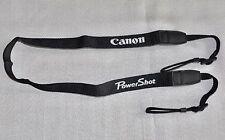 Canon POWERSHOT Nero W 22mm Genuine Spalla Tracolla Ricamato [] per g16, 12
