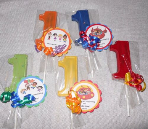 12 Disney Little Einsteins Gourmet 1st Birthday Party Favors and custom tags