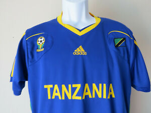 Vintage-ADIDAS-TANZANIA-SOCCER-JERSEY-Football-Futbol-Blue-Climacool-Medium