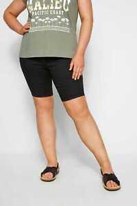 Yours Clothing Damen Übergröße Schwarz Boardshorts