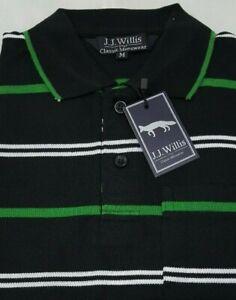 Mens-Polo-Shirts-Striped-stripe-Pique-Short-Sleeve-Collared-Tee-T-Shirt-M-L-XL-2