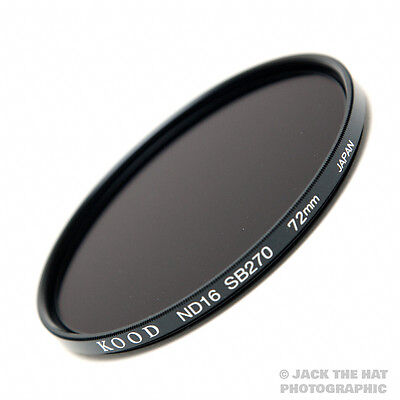 72mm Kood High Quality ND16 Filter Made in Japan Schott Glass Multicoated 4 Stop