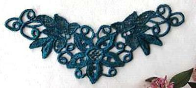 2 Lovely Affordable Venise Venice Lace Applique / Medallion Satin Rayon -1838