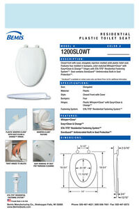 Dresden Blue Bemis 200SLOWT 464 Round Closed Front Toilet Seat